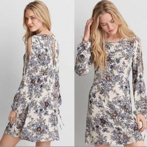 AEO Vintage Floral Cold Shoulder Mini Dress